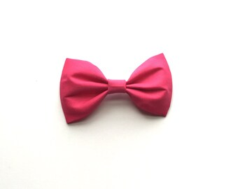 Magenta cotton bow