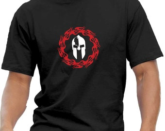 Spartan. Men's T-Shirt. Gym Workout Crossfit Fitness Bodybuilding Kettlebell Weightlifting Training