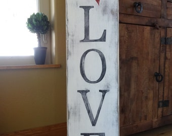 Love Grows Here Hand Painted Sign, Succulent Art, Painted ... |Valentine Hand Painted Wood Signs