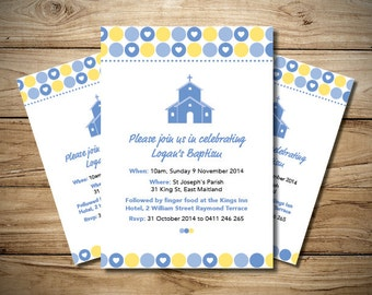 Boys Christening Church Invitation