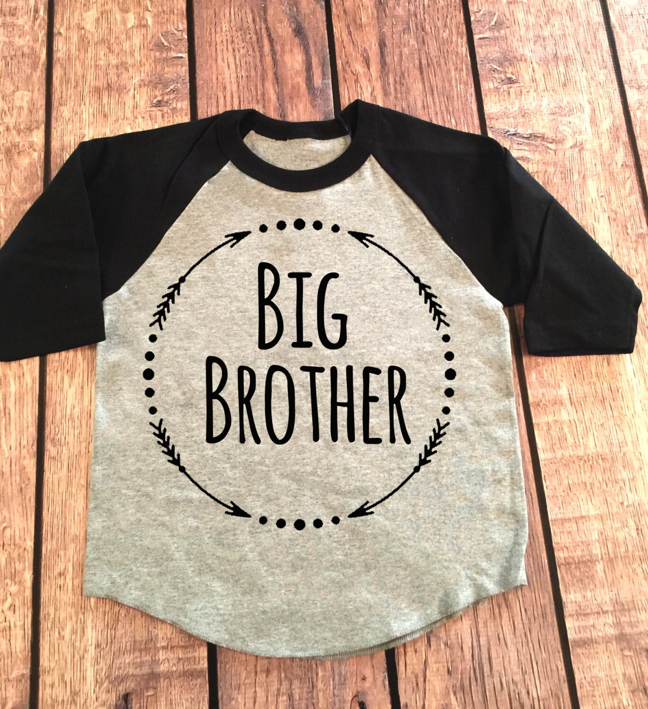 Big Brother 3/4 Sleeve Raglan Shirt Little Brother Shirt