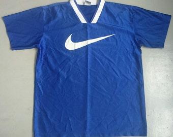 Hot Sale, Rare Vintage NIKE Big Logo Swoosh Jersey Tshirt Size M