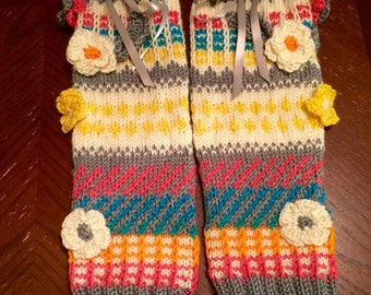 Ana leg warmers part of the Motina collection