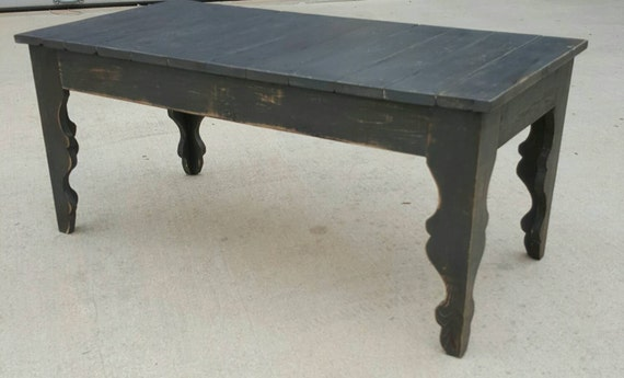 shabby chic farmhouse style coffee table with gray distressed. Black Bedroom Furniture Sets. Home Design Ideas