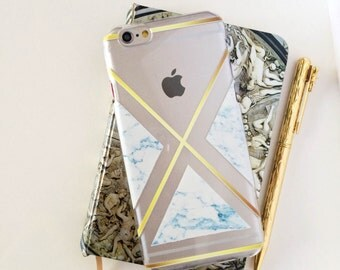 Marble Clear Phone Case - Clear Case - For iPhone 8, 8 Plus, X, iPhone 7 Plus, 7, SE, 5, 6S Plus, 6S,6 Plus, Samsung S8,S8 Plus,Transparent