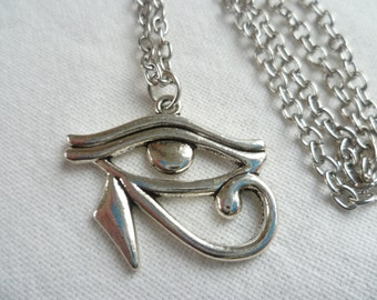 Sterling silver eye of horus protection necklace eye of ra eye of horus silver necklacegifteye of horus jewelleryegyptiaeye aloadofball Images