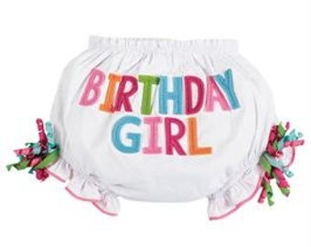 Birthday Girl Bloomers, Appliqué, Boutique