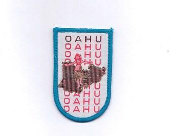 Vintage Oahu Hawaii Island Patch