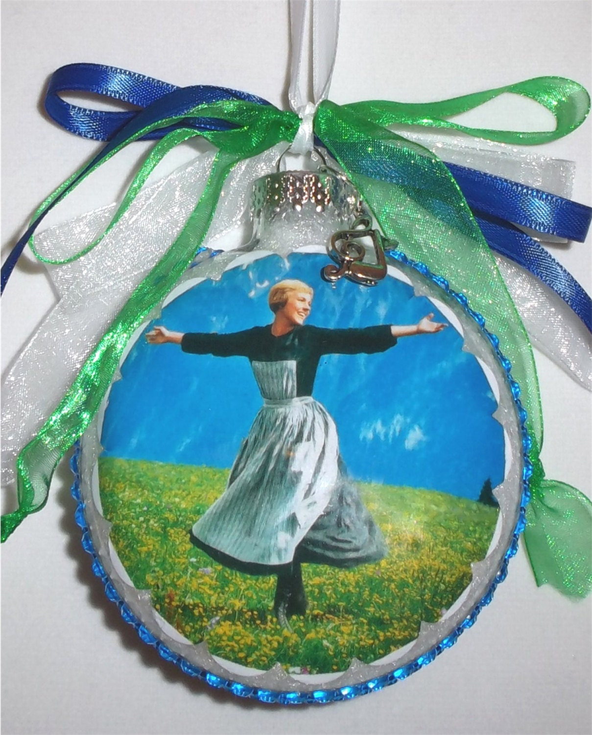 Sound Of Music Inspired Tribute Glass Christmas Ornament