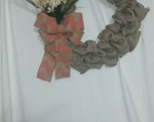 Burlap wreath, fall decor, fall wreath