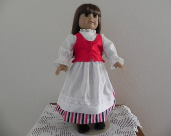 Finnish National costume for the American Girl Doll.