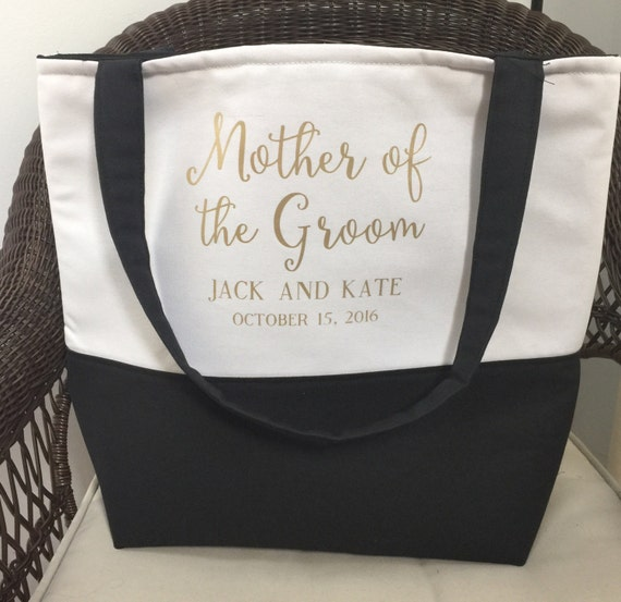 Mother of the Bride Gift - Mother of the Groom Gift - Monogrammed Tote Bag - Custom Tote Bag - Personalized Tote Bags - Mom Wedding Gift