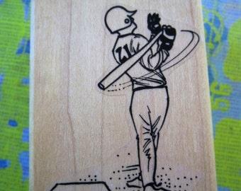 baseball player rubberstamp