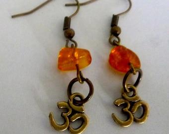 Earrings zen amber ohm