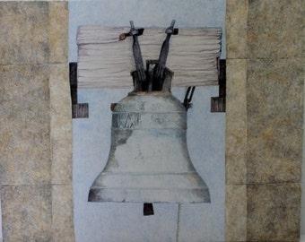 "Casein painting ""Dorset Bell"""