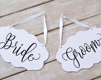 Bride Groom Chair Sign, Bride Groom Signs, Chair Signs Wedding, Wedding Chair Signs, Wedding Sign, PDF Instant Download #BPB203_23