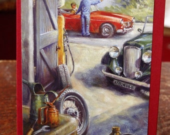 Grandad Car at Garage Card