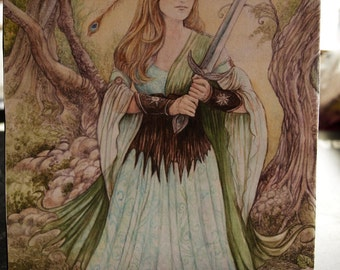 A Picture of a Woman with a Sword