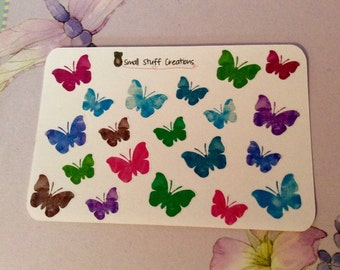 Cute Small Butterfly Stickers - one size fits all planners!