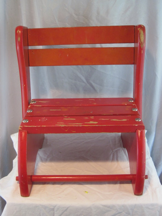 Vintage chair step stool 1950 39 s chair child 39 s for J pickford bathrooms