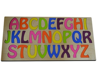Learn The Alphabet Wood Puzzle for Kids, ABC Puzzle, Alphabet Toy Ready To Ship
