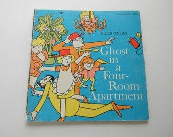 "Vintage Children's Story Book, ""Ghost in a Four-Room Apartment"",  Paper Ephemera"