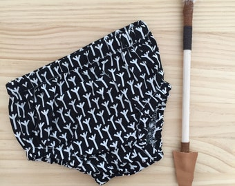 Baby black and white nappy cover