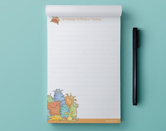 Notepad - The Friendly Monsters