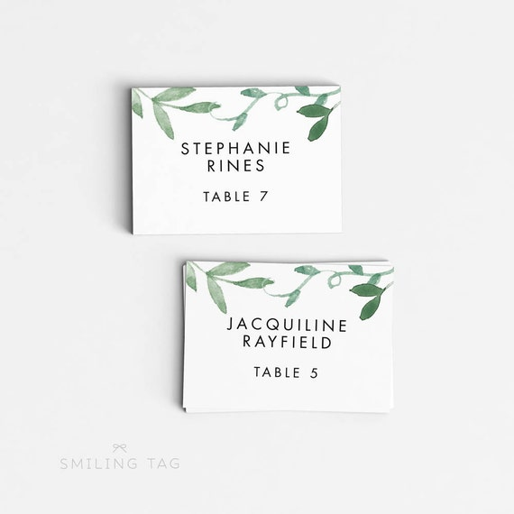 Personalized printable wedding place cards wedding by for Personalized wedding place cards