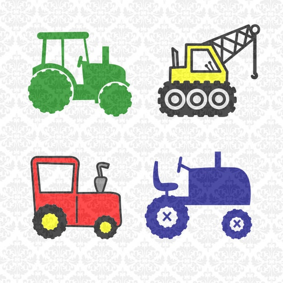 Tractor Crane Kids Farmer Newborn  Construction SVG STUDIO Ai EPS Scalable Vector Instant Download Commercial Use Cricut Silhouette