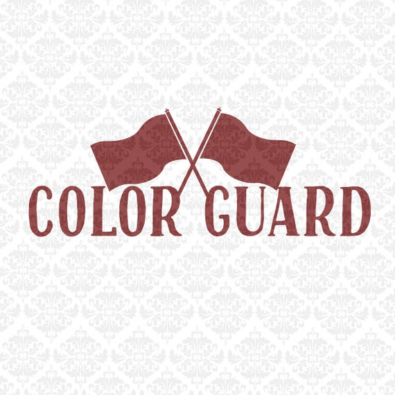 Colorguard Love Flags Monogram Color Guard Marching Band Svg