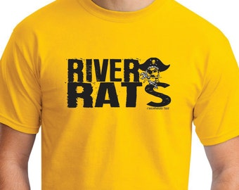 RIVER RATS Black River Pirates High School Middle Elementary Ohio Tee Shirt Spencer