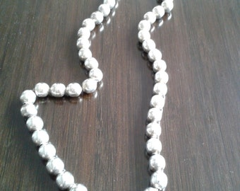 Beaded Sterling Necklace,