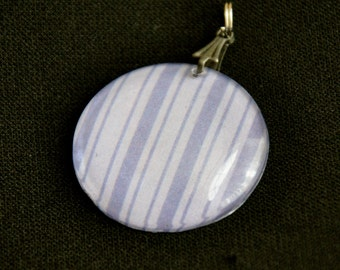 Purple Striped Pendant