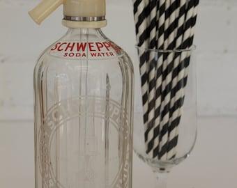 vintage schweppes soda water bottles
