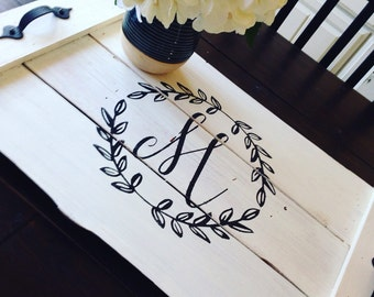 Wood Serving Tray - Serving Tray - Bridal Shower Gift - Wedding Gift - Wood Tray - Rustic Serving Tray