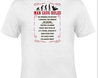 t-shirts : man cave rules
