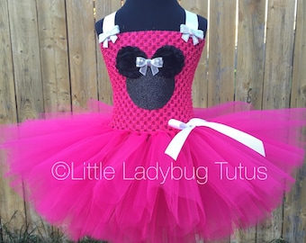 Minnie Mouse Tutu Dress, fuchsia/hot pink. Perfect for birthdays or Disney!