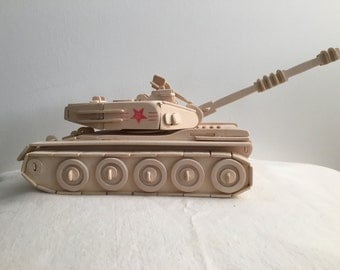 Wooden Model Tank Assembled Ready to paint