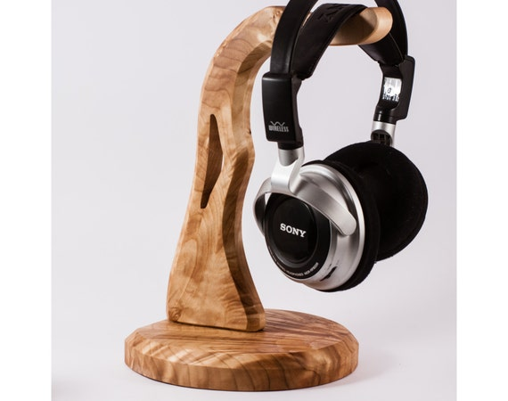 Wooden headphone holder headphone stand - Wooden headphone holder ...