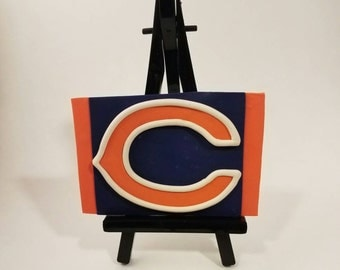 Chicago Bears NHl Polymer Clay Figurine on Mini Easel