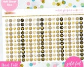 Neutral Gold Foiled Functional Planner Icons Stickers (perfect for planners) #GFI-003