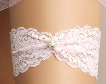 Wedding garter, bridal garter, toss garter, garter set, lace garter, rhinestone garter, crystal garter, pink garter, lace wedding garter