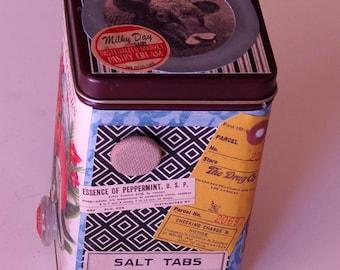 Tin Box, Vintage Themed Decorated Tin