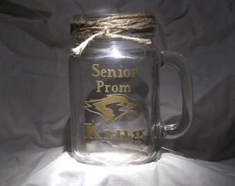 Vinyl glass mason jar mug