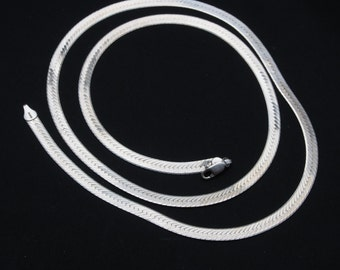Vintage Sterling Silver Necklace, 925 Italy