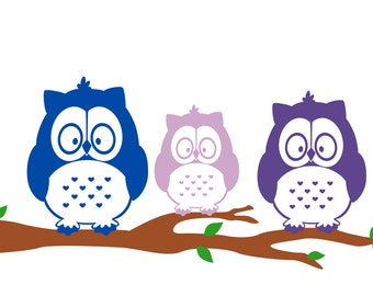 Parliament of Owls Family Car Decal