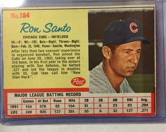 1962 Post Cereal Ron Santo #184