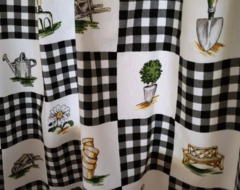 Farmhouse Curtains, Cafe Curtains , Kitchen Curtains, Country curtains , kitchen cafe Curtains, P Kaufmann Cotton Cafe curtains.