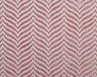 CLARENCE HOUSE TIGER Tigre Cut Velvet Fabric 5 Yards Plum